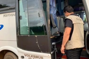 Fiscalização na BR-364 apreende 15 veículos que transportavam pessoas ilegal