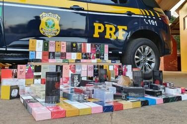 PRF apreende perfumes falsificados rotulados com marcas de renome