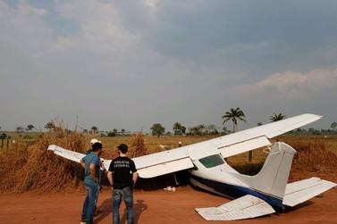 Avião que fez pouso forçado em Cacoal transportava 423 kg de cocaína, diz PF