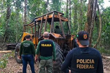 PF, Ibama e Funai deflagram operação contra o desmatamento em Terra Indígena