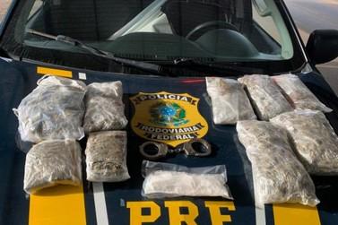 Homem é preso transportando maconha e cocaína; drogas seriam levadas para Goiás
