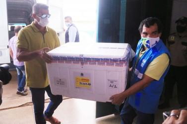 Rondônia recebe 5º lote de vacinas contra a Covid-19