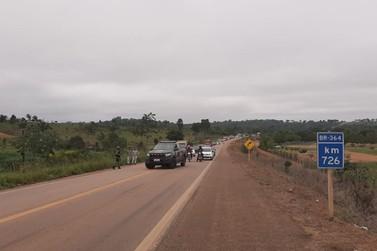 Viatura da Força Nacional se envolve em grave acidente na BR-364, próximo a UNIR