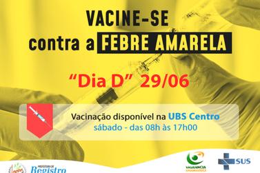 """Registro terá novo """"Dia D"""" de vacinação contra a Febre Amarela"""