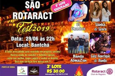 """Rotaract promove """"São Rotaract Fest 2019"""". É hoje!"""