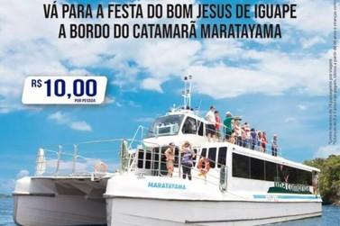 Catamarã fará travessia Ilha - Iguape durante a Festa de Bom Jesus