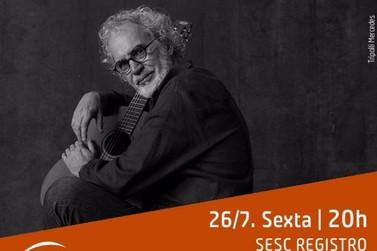Sesc Registro recebe o cantor e compositor  Renato Teixeira