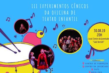 Cultura convida para Experimento Cênico da Oficina de Teatro Infantil