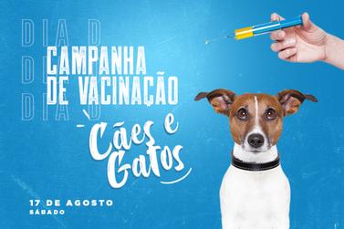 Dia D da Campanha de Vacinação para cães e gatos será no próximo sábado (17)