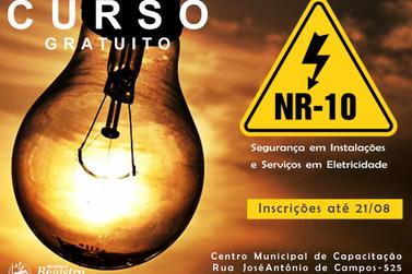Inscrições para Curso de Segurança em Instalações e Serviços em Eletricidade