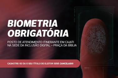 Cadastramento biométrico em Cajati