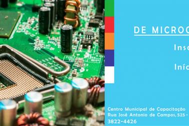 Inscrições abertas para o Curso de Manutenção de Microcomputadores