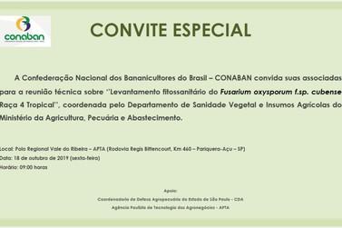 "Conaban promove reunião técnica sobre o ""Mal do Panamá"""