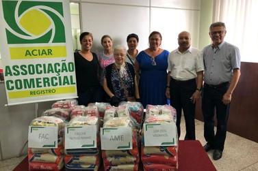 Aciar repassa três toneladas de alimentos a entidades de Registro