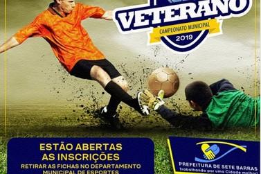 Inscrições abertas para o Campeonato de Futebol Veteranos 2019 em Sete Barras