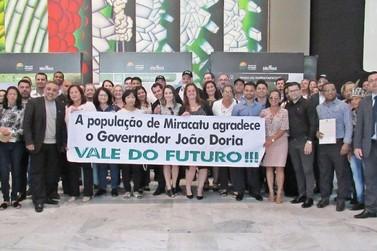 """Miracatu marca presença no lançamento do Programa """"Vale do Futuro"""""""
