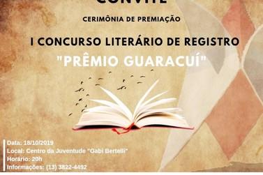Prefeitura de Registro divulga vencedores de Concurso Literário