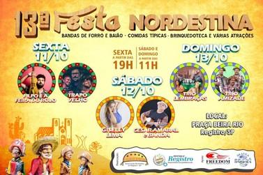 Registro promove a 13a. Festa Nordestina