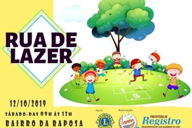 Rua do Lazer chega ao Bairro Raposa, em Registro