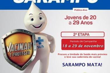 2ª etapa da Campanha de Vacinação contra o Sarampo em Miracatu prossegue