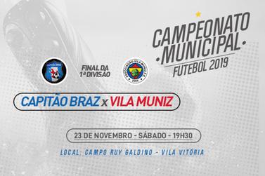 Final do Campeonato Municipal de Futebol acontece no próximo sábado