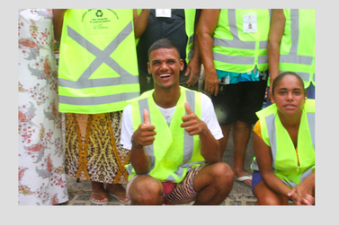 Coletores de materiais recicláveis foram treinados para o verão