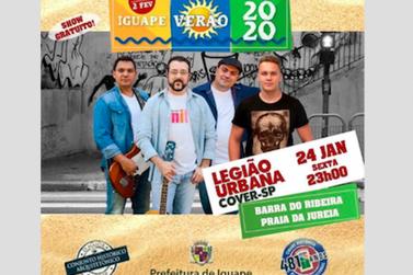 Festival Iguape Verão 2020 recebe hoje banda Legião Urbana Cover-SP