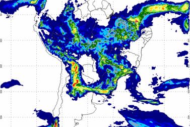 INMET emite alerta de fortes chuvas e ventos hoje em Registro