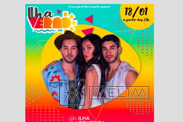 Melim faz show na Arena de Eventos em Ilha Comprida, às 23h