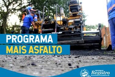 Programa Mais Asfalto pretende realizar a manutenção de 146 ruas da cidade