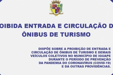 Coronavírus - Prefeito de Iguape proíbe entrada de ônibus turístico