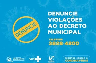 Prefeitura disponibiliza canal para denúncias de descumprimento ao Decreto