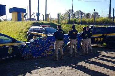 PRF apreende 1,1 Ton. de Maconha em caminhonete roubada