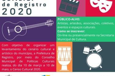 Segue até 10 de maio as inscrições para Censo Cultural 2020