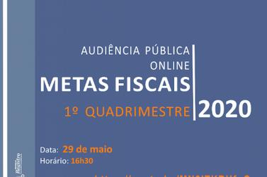 Audiência pública sobre as metas fiscais será virtual
