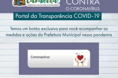 Gastos de Cananéia com Coronavírus estão disponíveis no Portal Transparência