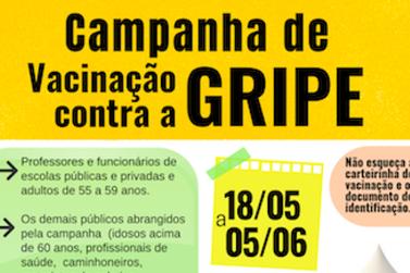 Juquiá faz campanha de vacinação contra gripe
