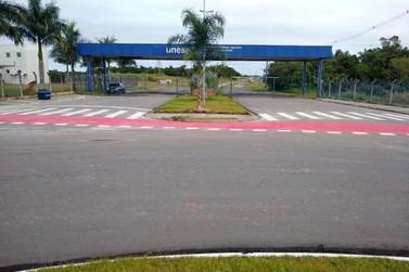 Obras de pavimentação que dão acesso à UNESP, IF, SESI e SENAI quase concluídas