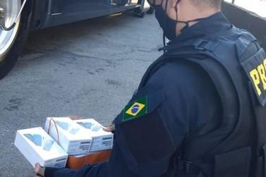 PRF apreende celulares contrabandeados