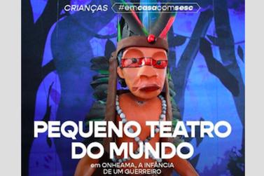 """Hoje tem teatro de marionetes """"Onheama, A Infância de um Guerreiro"""", às 12h"""