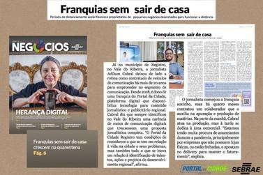 Jornal de Negócios do Sebrae cita Portal da Cidade Registro em matéria