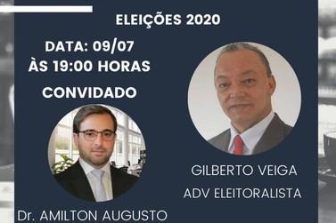 Live discute regras para as eleições municipais de 2020, hoje às 19h