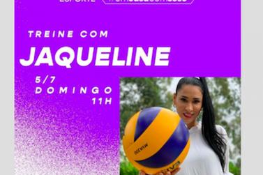 O treino deste domingo é com Jaqueline do vôlei, às 11h