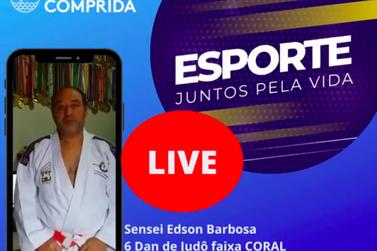 Sensei Edson Barbosa, faixa coral de Judô, faz live, hoje, às 19h