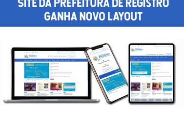 Site da Prefeitura de Registro ganha novo layout
