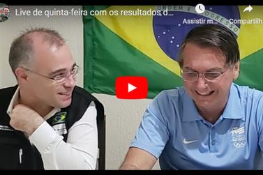 Acompanhe a live do Presidente Bolsonaro gravada em Eldorado nesta quinta-feira