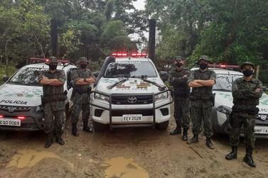 PM faz apreensão de arma de fogo e munições Bairro Guaviruva, em Registro