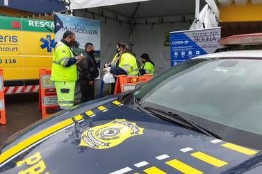 PRF e Arteris realizam orientações em Semana Nacional de Trânsito