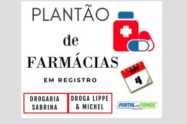 Saiba as farmácias de plantão neste domingo em Registro