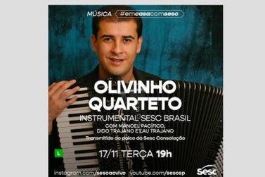 Olivinho Quarteto traz xotes, baião, choros e arrasta-pés em live do Sesc